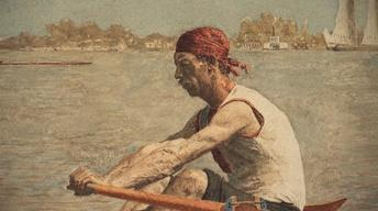 Thomas Eakins, John Biglin in a Single Scull, c. 1873