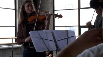We Are The Knights: Rehearsing Concerto for Two Violas in...