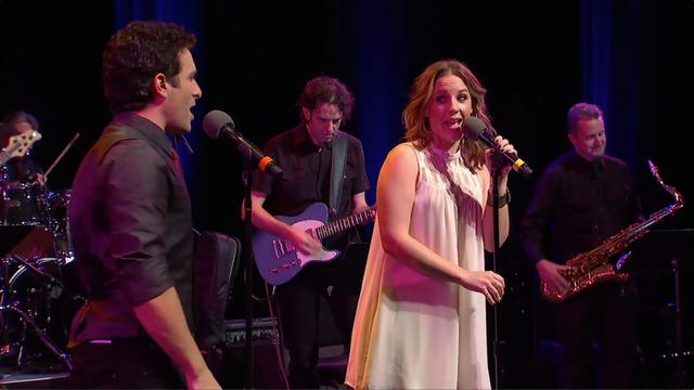 Jessie Mueller and Jarrod Spector sing