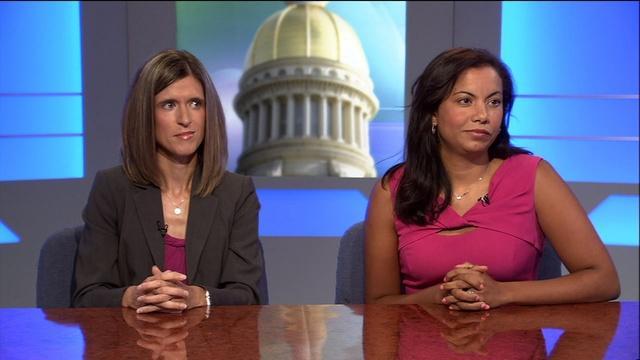 Stefanie Riehl & Analilia Mejia; Ann Brady; Maj. Gen. Mark G