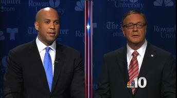 Booker, Lonegan Clash in Final Debate