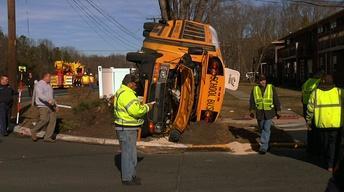 Old Bridge Bus Crash Leaves Two Seriously Injured
