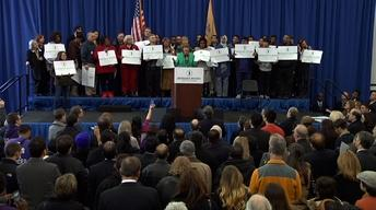 February 4, 2013: Barbara Buono, Chris Christie, FEMA