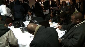 Hundreds Come Out for Newark Airport Job Fair