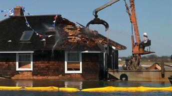 Demolition Begins on Home in Barnegat Bay Since Sandy
