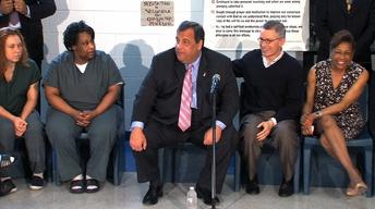 Christie Visits Hudson County Jail to See McGreevey Program