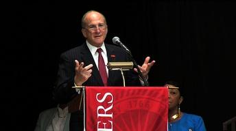 Officials Mark College Merger at Rutgers