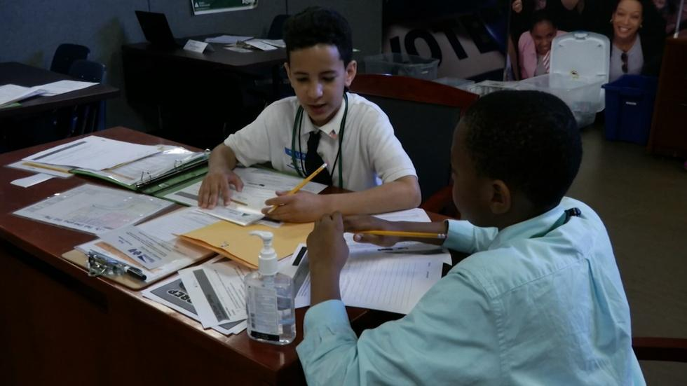 Elementary Students Get Real World Experience in BizTown image