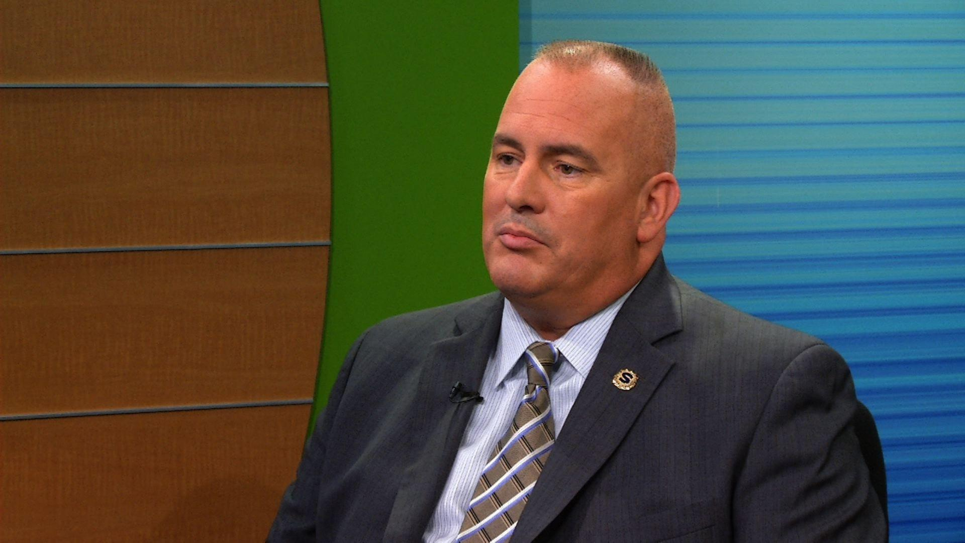 The new jersey state policemens benevolent association president patrick colligan / executive vice president marc