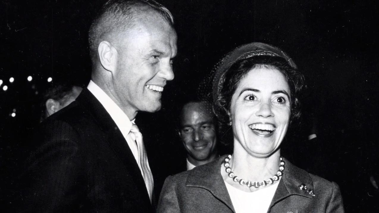 John Glenn and wife