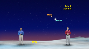 """Venus Misses Mars By That Much"" Feb 6-12th 1 Min"