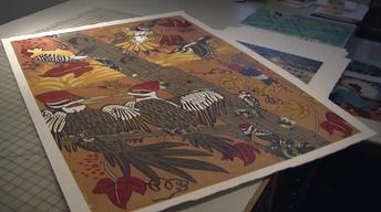 Printmaker Jenny Pope