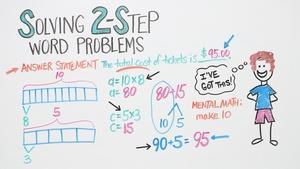 Solving 2-Step Word Problems   Grade 3