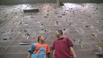 Julia Rock Climbs at Cornell University