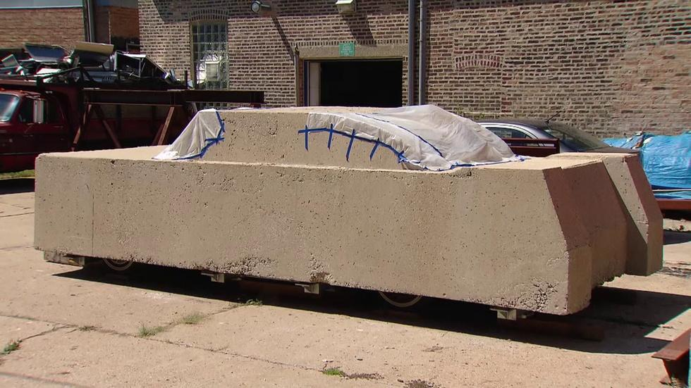 Vintage Sculpture 'Concrete Traffic' Goes for a Joyride image