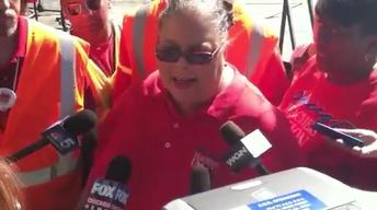 Web Extra: Karen Lewis at Rally