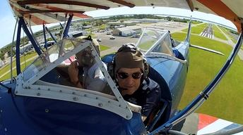 Biplane flight, Dress maker, Valarie Greene, Eustis, Record