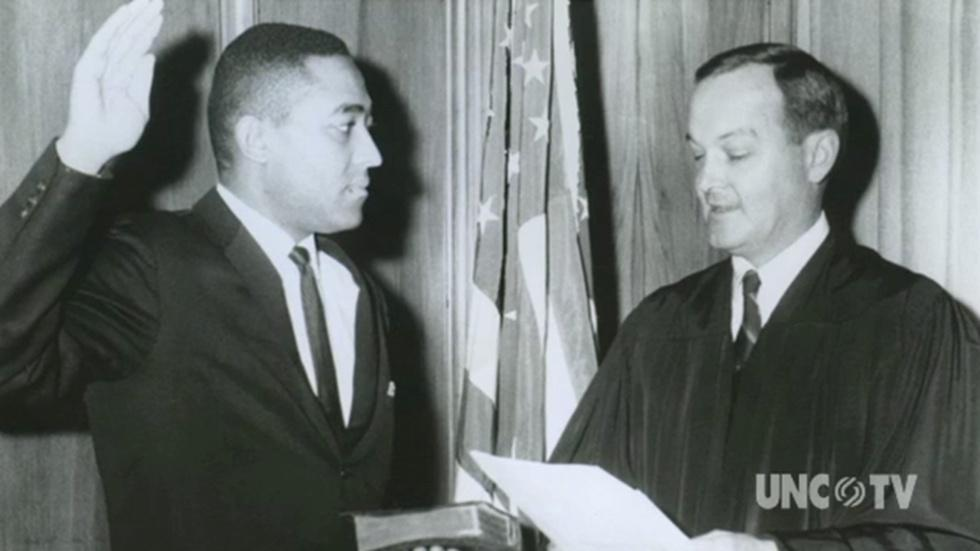 H. Frye recalls UNC Law School first African American image