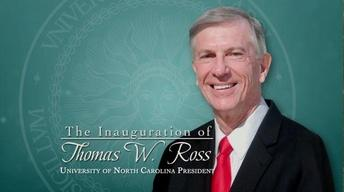 Inauguration of UNC President Ross