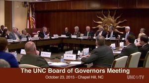 UNC Board of Governors Meeting 10/23/15