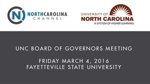 March 2016 Board of Governors Meeting