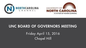 April 2016 Board of Governors Meeting