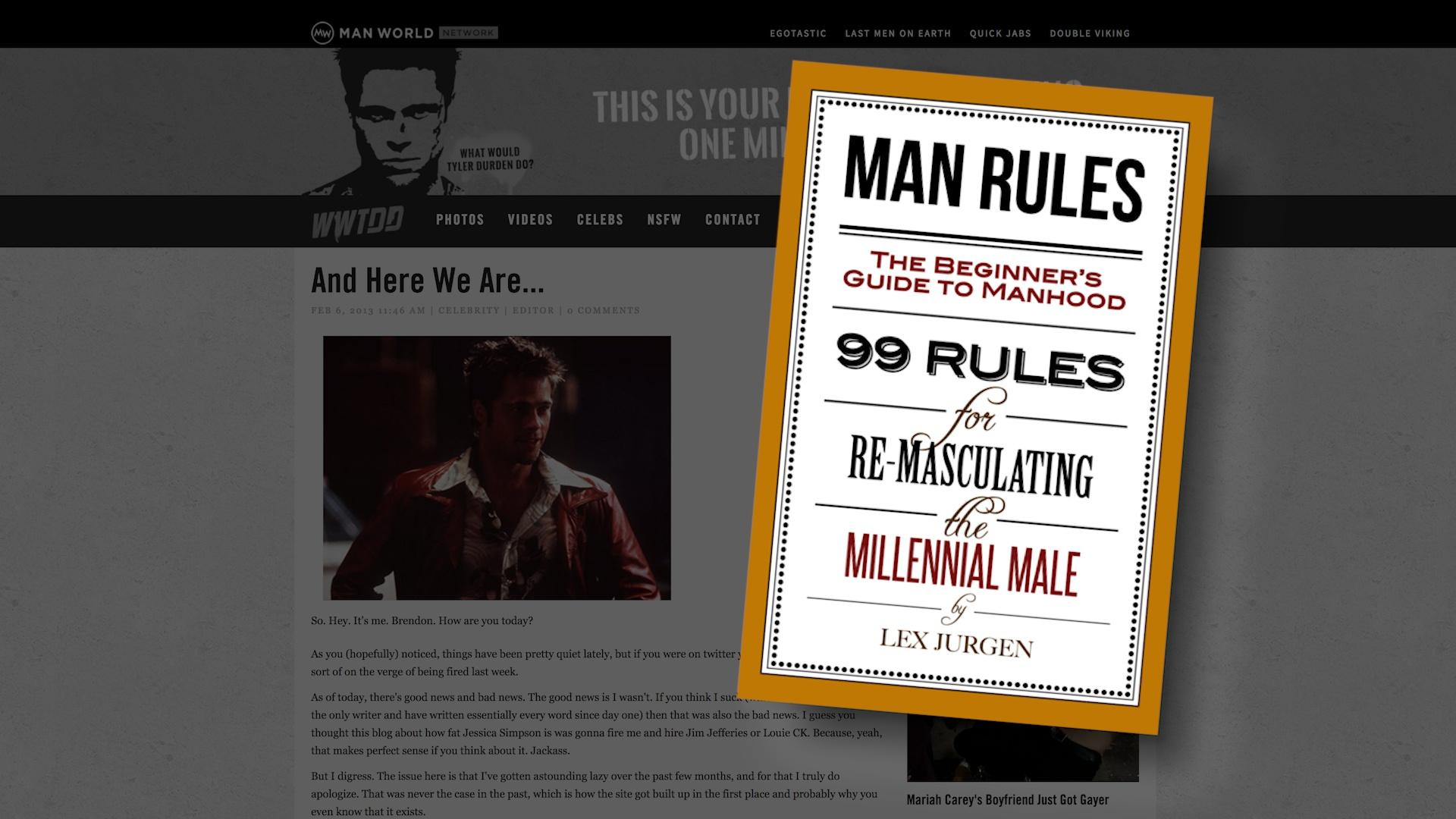 "TTC Extra: ""Man Rules"" for Millennial Males"