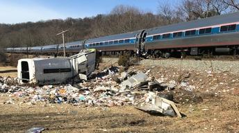 News Wrap: Train carrying GOP lawmakers collides with truck