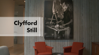 Pioneer in abstract expressionist movement: Clyfford Still