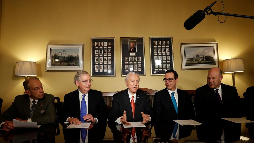 GOP gears up for intense tax battle as Senate debuts plan image