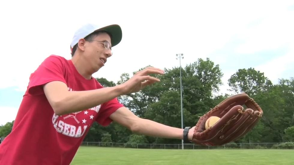 Freehold Area Challenger Sports program teaches baseball and image