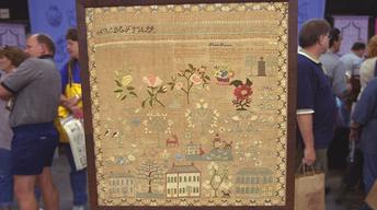 S21 Ep24: Appraisal: Connecticut Sampler, ca. 1835