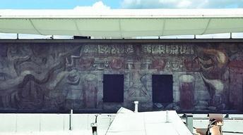 """S9: David Alfaro Siqueiros' mural """"América Tropical"""""""