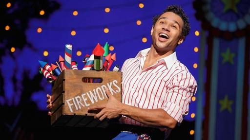 "Corbin Bleu Performs ""Let's Say It With Firecrackers"""