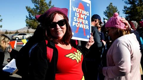 PBS NewsHour -- Women's March focuses on voters at Las Vegas event
