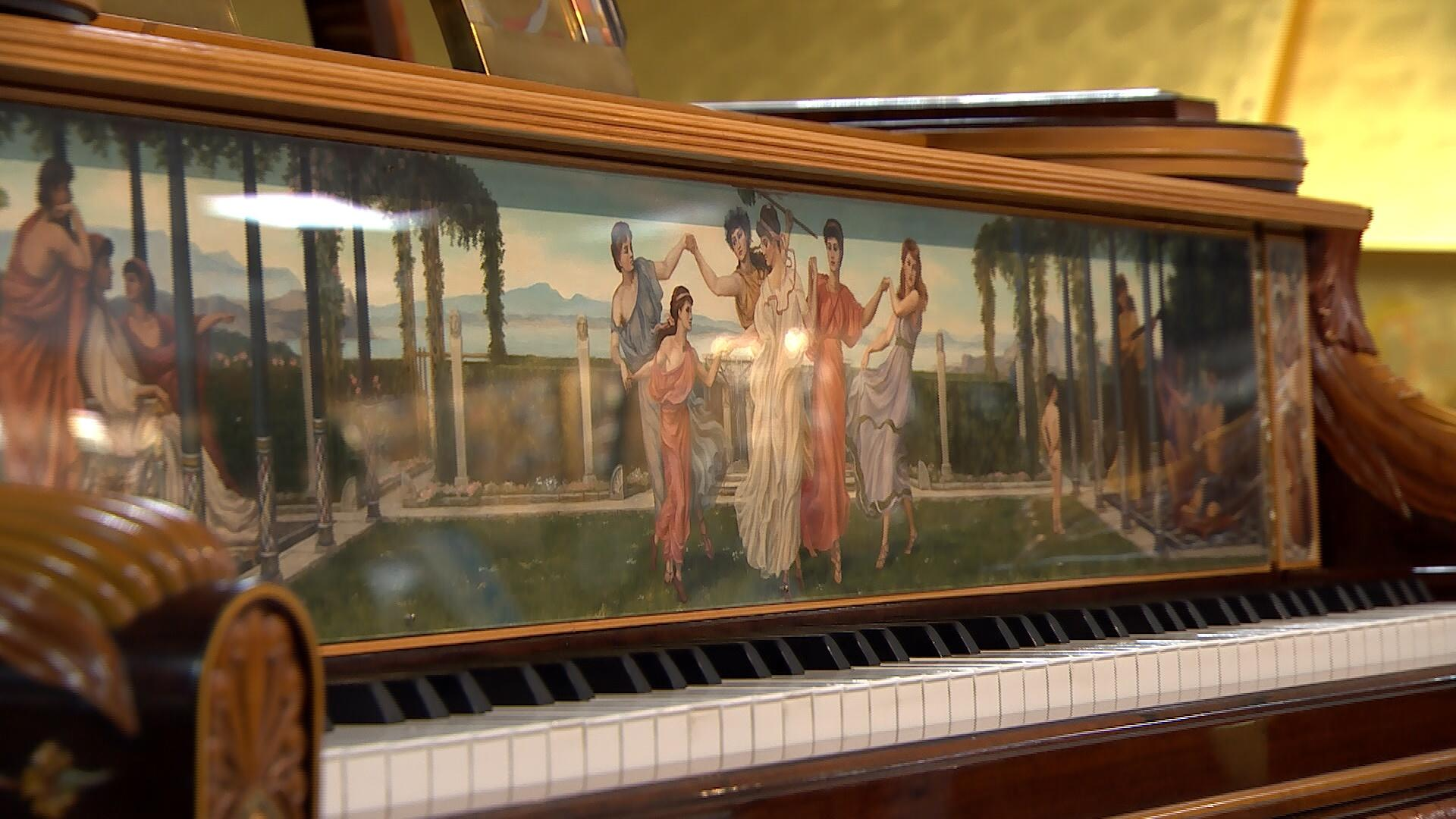 Steinway Art Case Pianos on display in Tallahassee