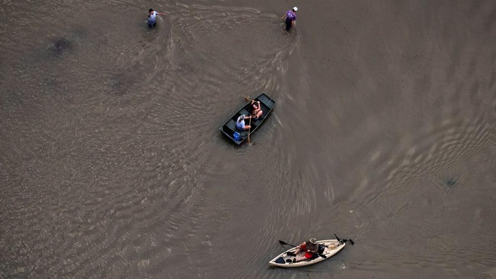 Surveying toxic waste sites flooded by Harvey image