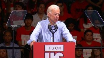 Joe Biden speaks at Rutgers University