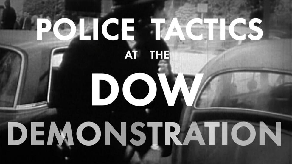 Police Tactics at the DOW Demonstration image