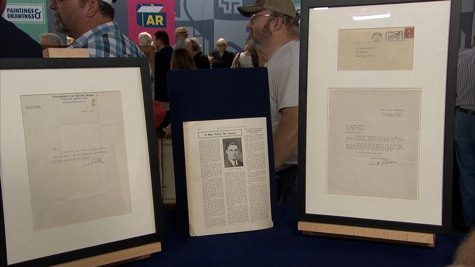 Appraisal: Knute Rockne-signed Letters image