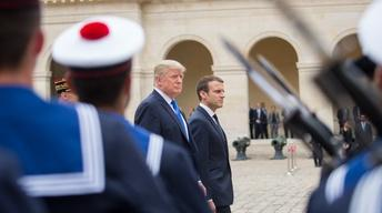 Trump celebrates Bastille Day in France, Bush & Clinton talk