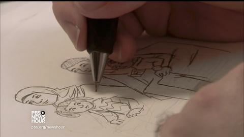 PBS NewsHour -- Comic artists draw out stories from Syrian refugees