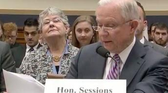 Attorney General Jeff Sessions testifies on Capitol Hill