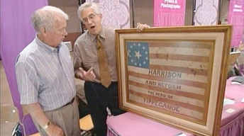 S21 Ep22: Appraisal: 1840 Harrison Campaign Flag