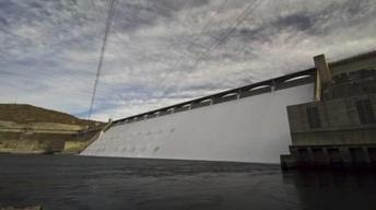 Grand Coulee Dam's Open Spillways