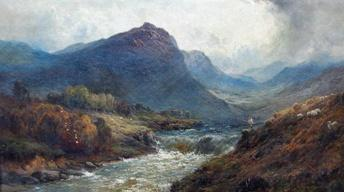 Appraisal: Alfred de Breanski Sr. Oil Painting, ca. 1870