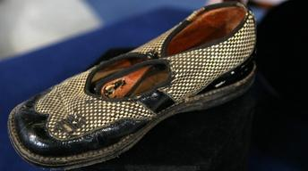 Appraisal: Babe Ruth & Lou Gehrig Signed Shoe