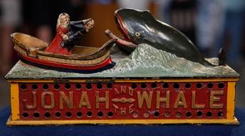 "Appraisal: ""Jonah & The Whale"" Mechanical Bank, ca. 1890"