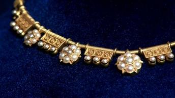 Appraisal: Etruscan Revival Gold Necklace, ca. 1880
