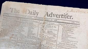 Appraisal: 1788 New York Daily Advertiser